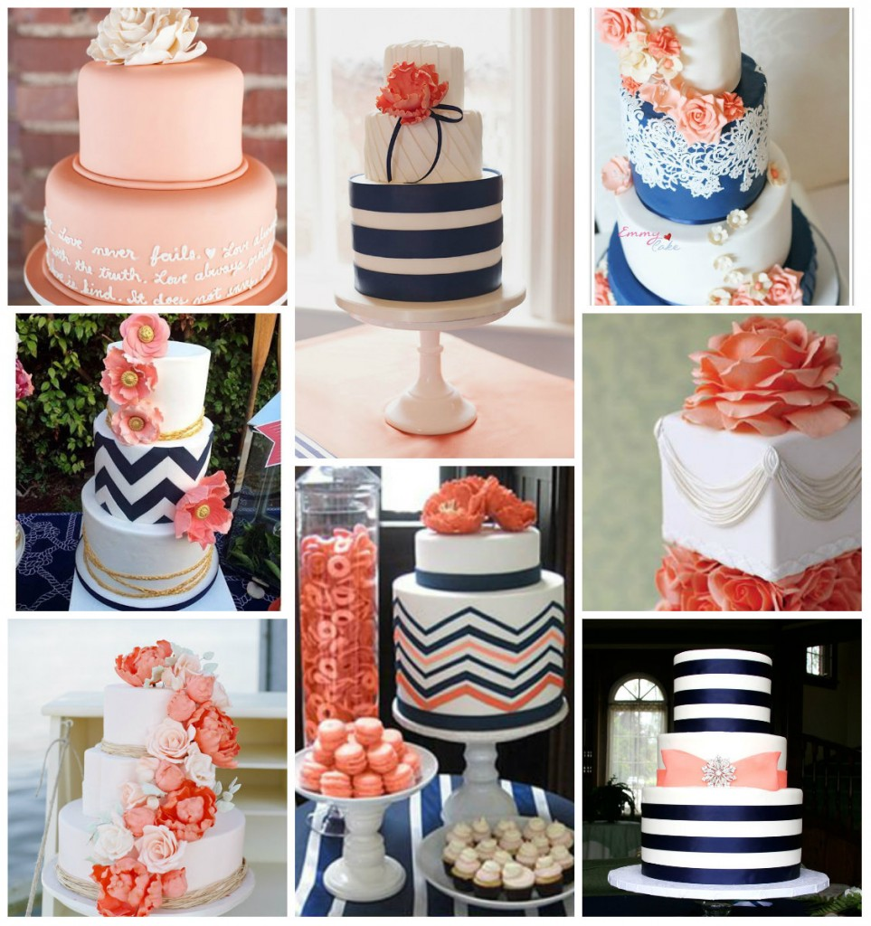 Wedding Cake blue Peach