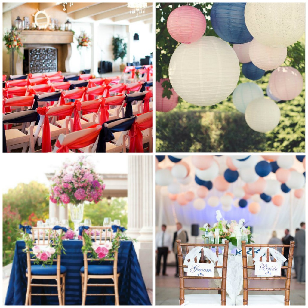 decoration wedding blue navy