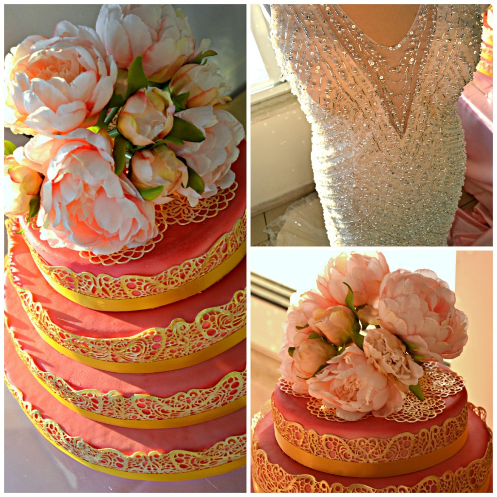 Wedding Cake Gold Pink