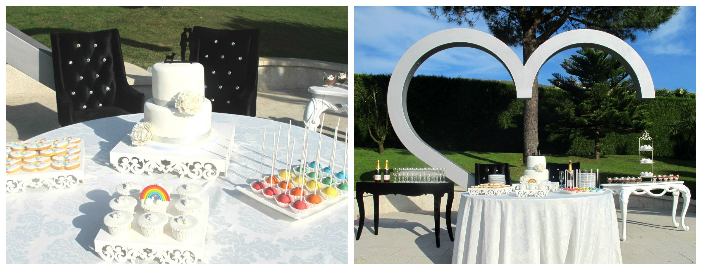 Sweet buffet rainbow wedding