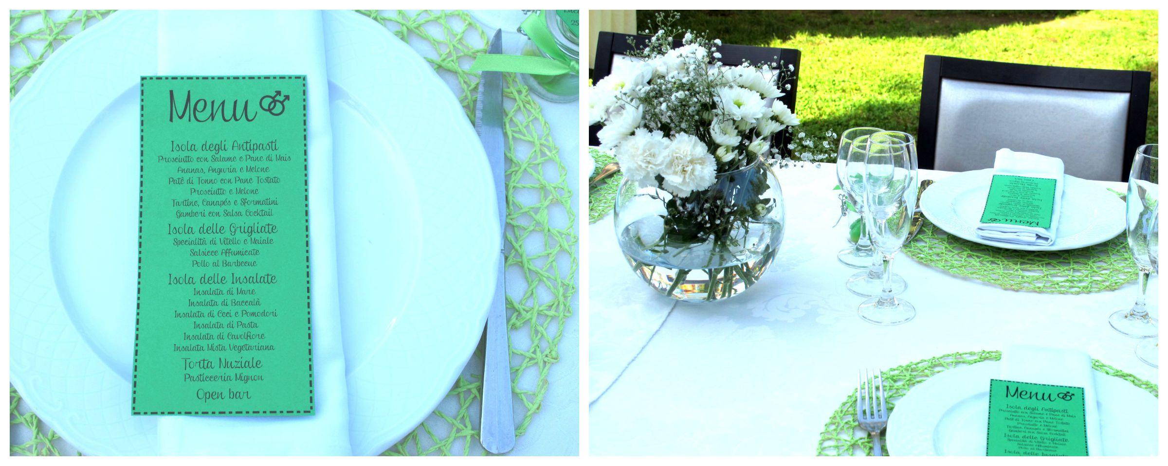 Apparecchiatura tavolo matrimonio colorato