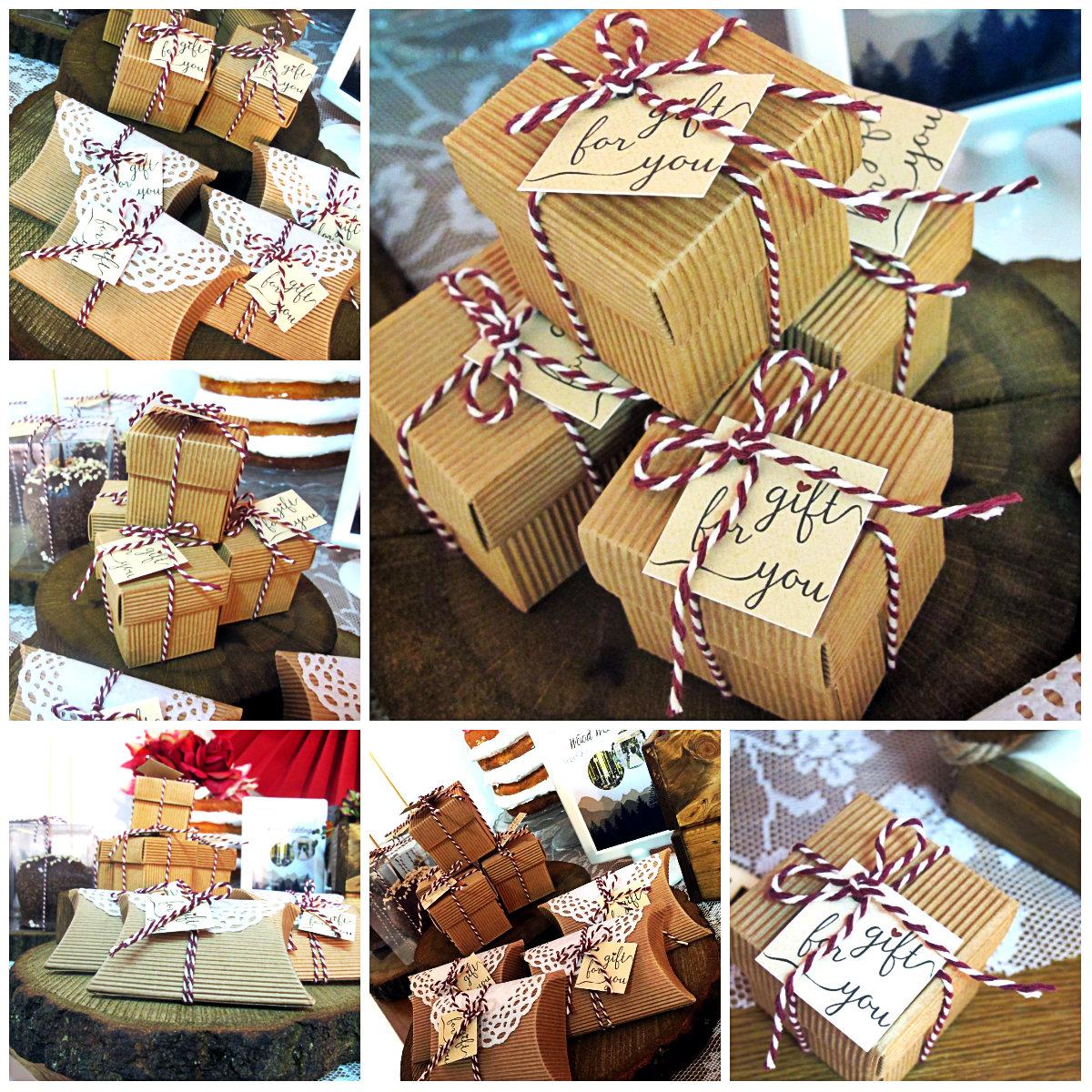 Bomboniera Matrimonio carta Kraft con Bakery Twine