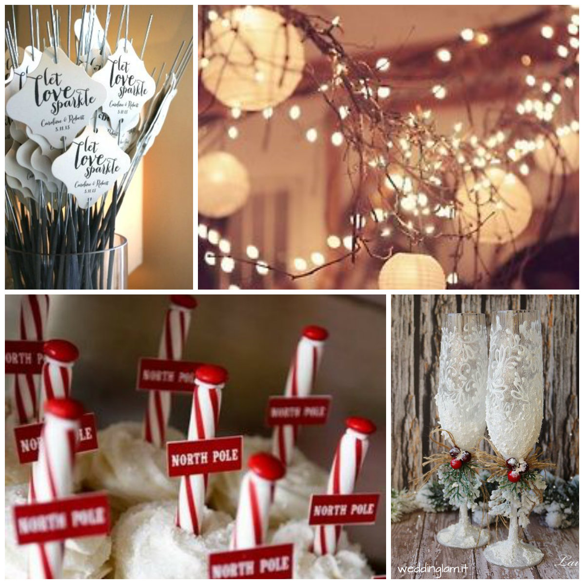 Decorations for Christmas wedding