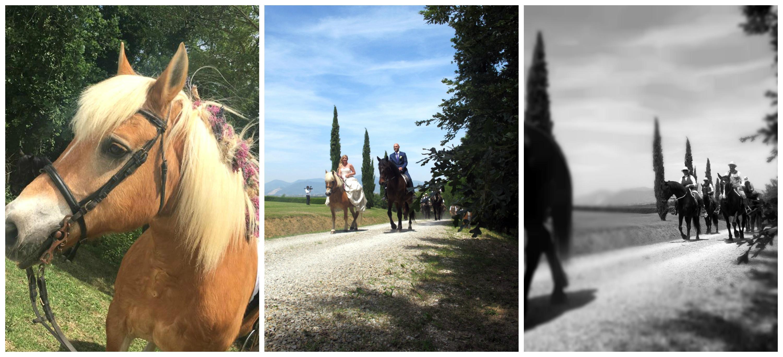 Ingresso sposi a cavallo