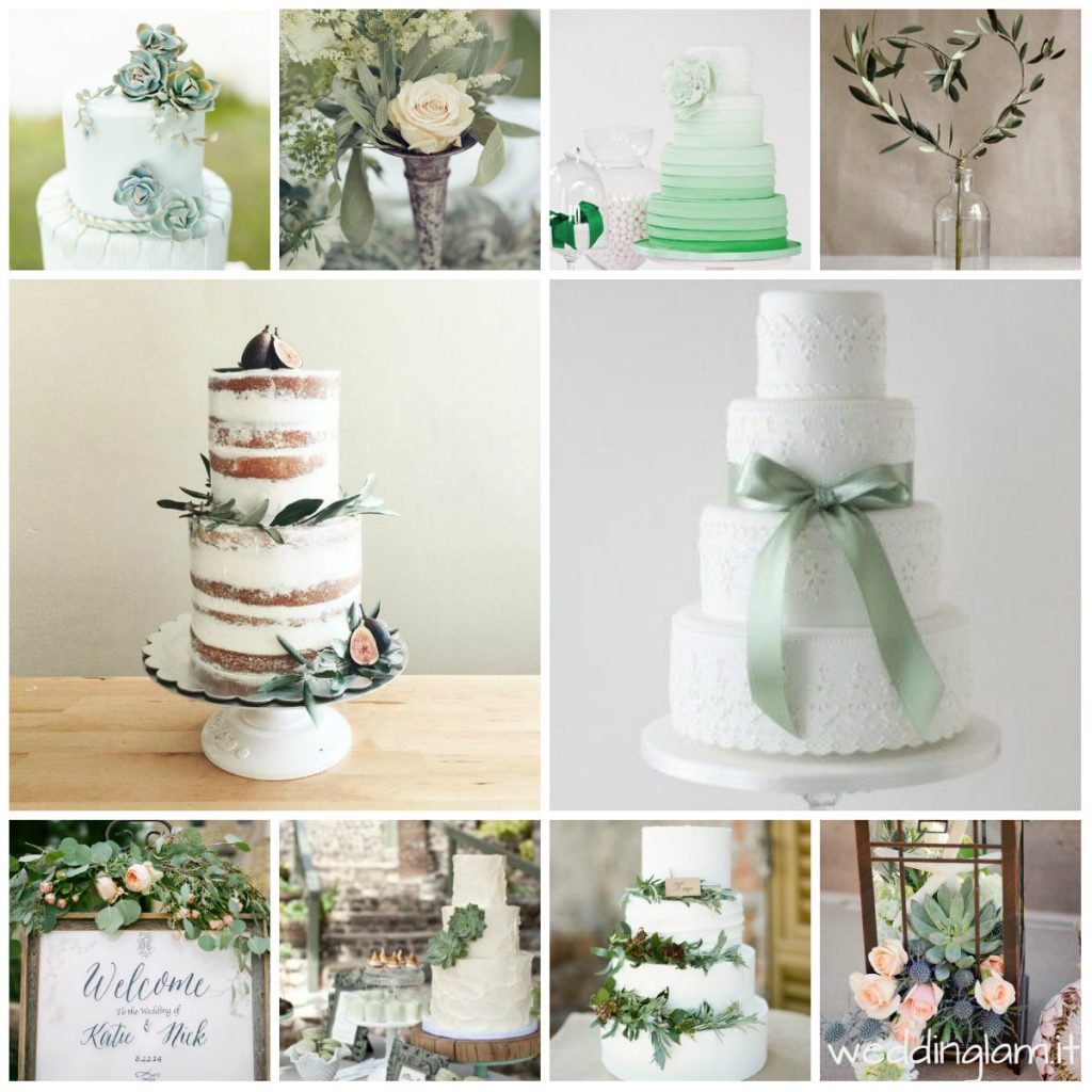 GREEN NAKED WEDDING CAKE SUCCULENT