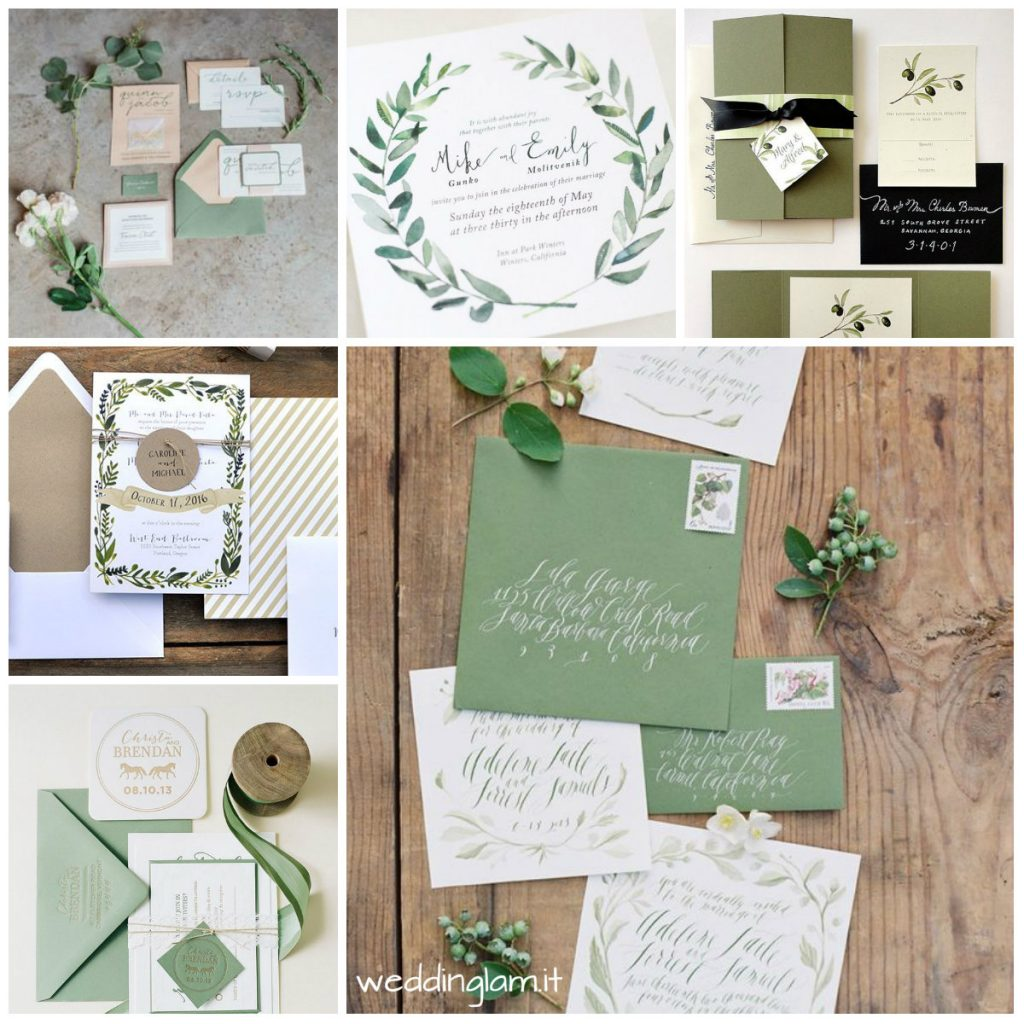 WEDDING INVITATION GREEN TUSCAN