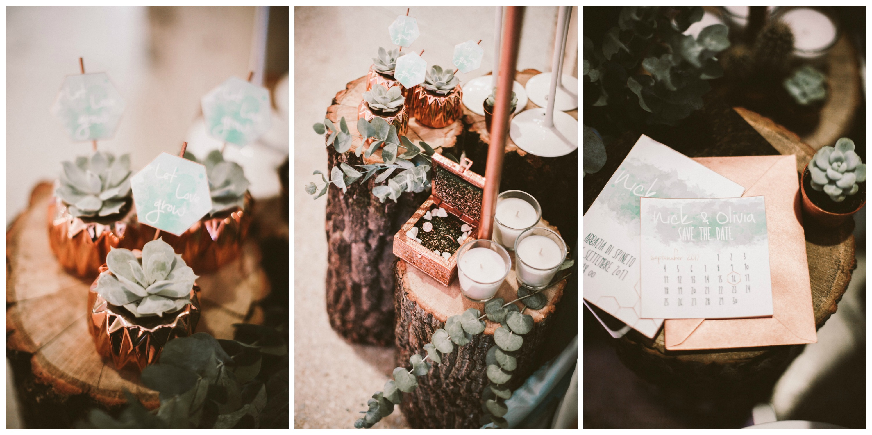 6-wood-wedding-with-succulent-and-copper-favor-and-invitation